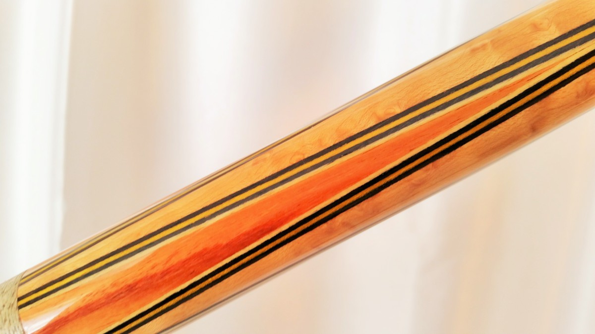 Tim Scruggs Custom Pool Cue With Ts Joint Protectors For Sale