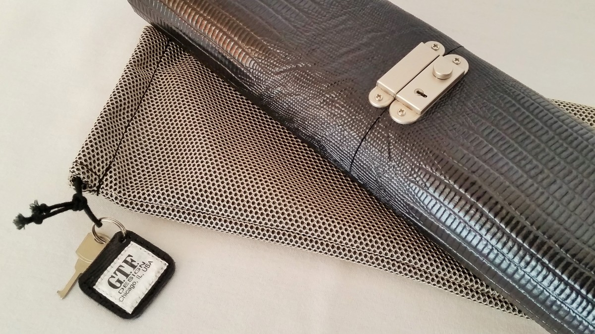 Gtf Lizard Print Leather Pool Cue Case For Sale