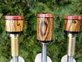 Bocote Pool Cue Joint Protectors w' Tulip Caps (3)