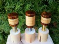 Curly Maple & Cocobolo Joint Protectors For Sale (2)