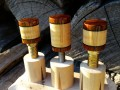 Curly Maple & Cocobolo Joint Protectors For Sale (3)