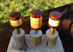 Curly Maple & Cocobolo Joint Protectors For Sale (5)