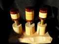 Curly Maple & Cocobolo Joint Protectors For Sale (7)