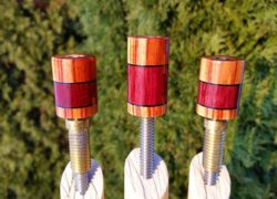 Tulip Wood & Purple Heart Custom Joint Protectors (2)