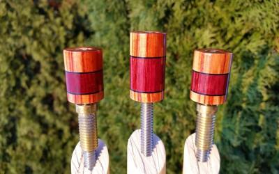 Tulip Wood & Purple Heart Custom Joint Protectors (2)
